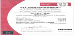 Shipping - ISO 9001:2015 Quality certificate